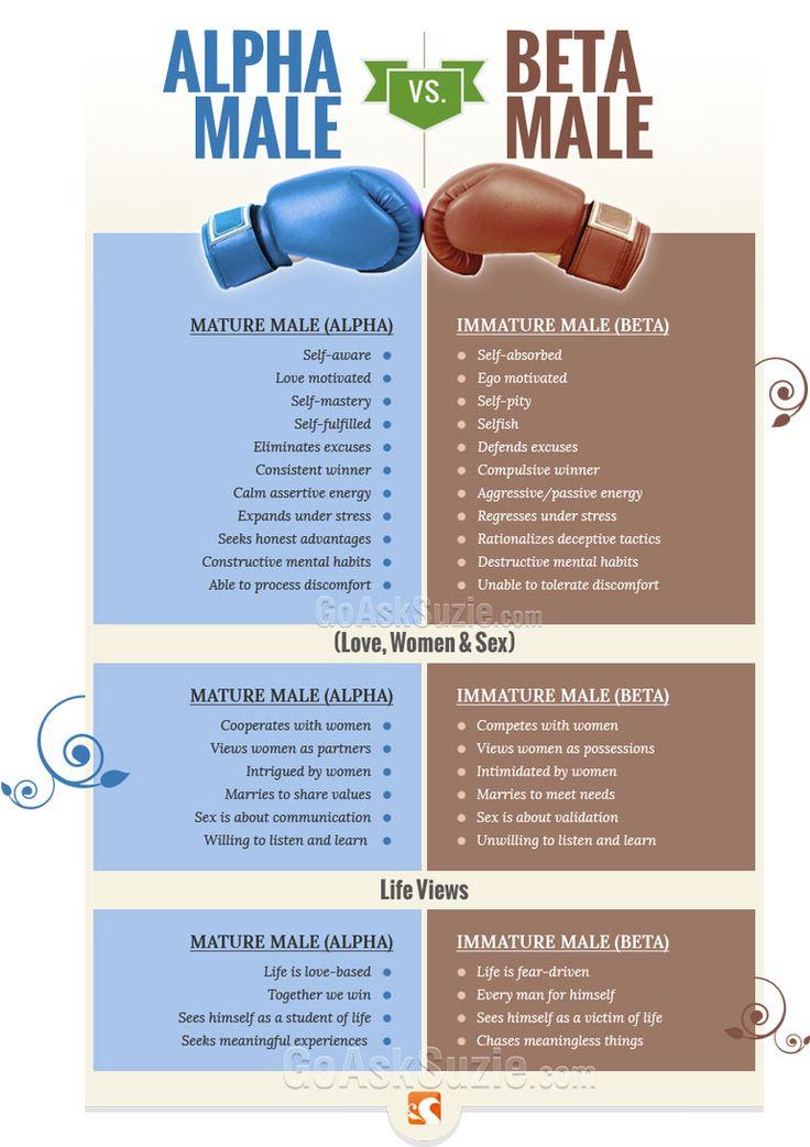 Alpha vs Beta Male Info Graphic