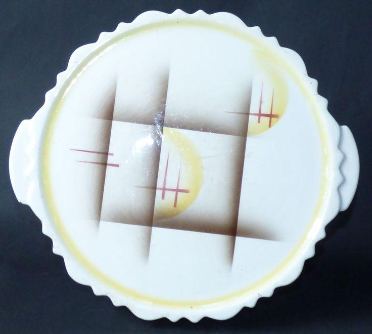 Tortenplatte Kuchenplatte Paetsch 1288 Spritzdekor art deco