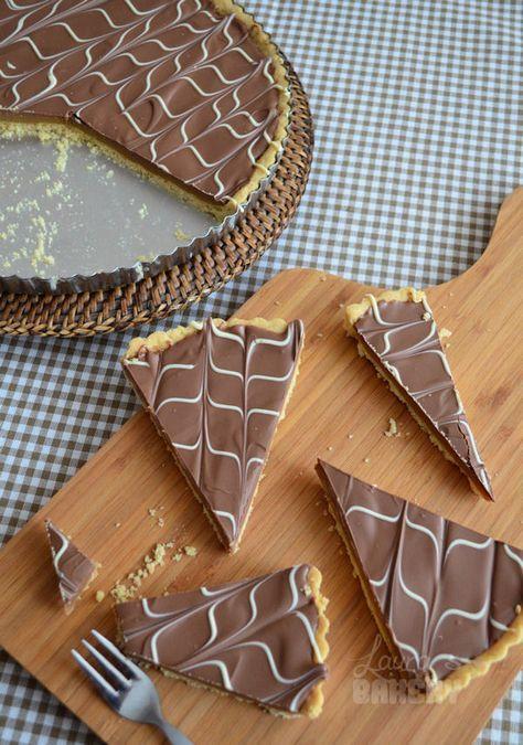 Gemakkelijk Chocolade Karamel Taartje ( soort Twix in taartvorm)