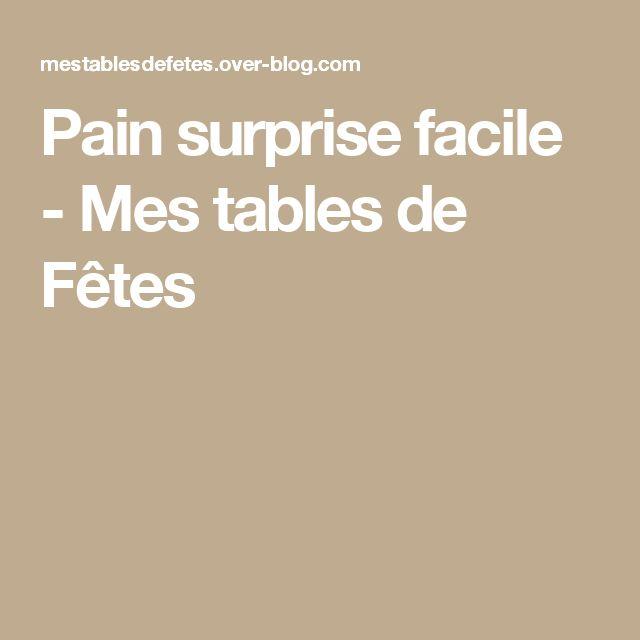 Pain surprise facile - Mes tables de Fêtes