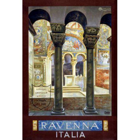 Ravenna Italia Vintage Italian Travel Canvas Art - (36 x 54)