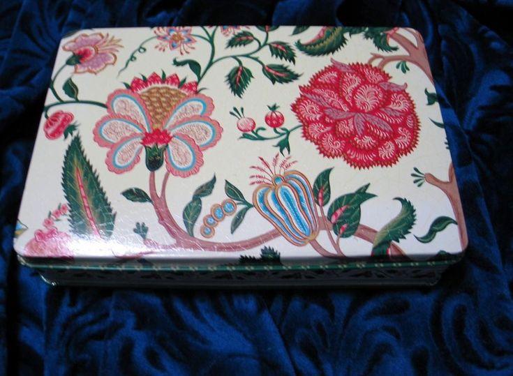 Metropolitan Museum Art Metal Tin Trinket Decorative Collectible Flora Botanical