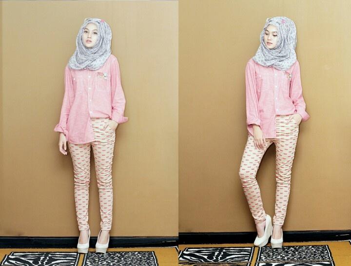 Nice for fall.. #hijab #pink