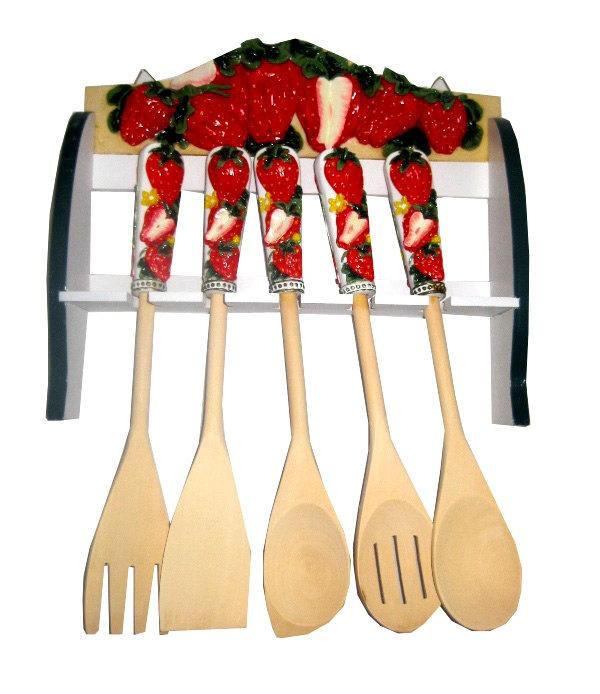 Strawberry spoon rack   Strawberry patch, Strawberry ...