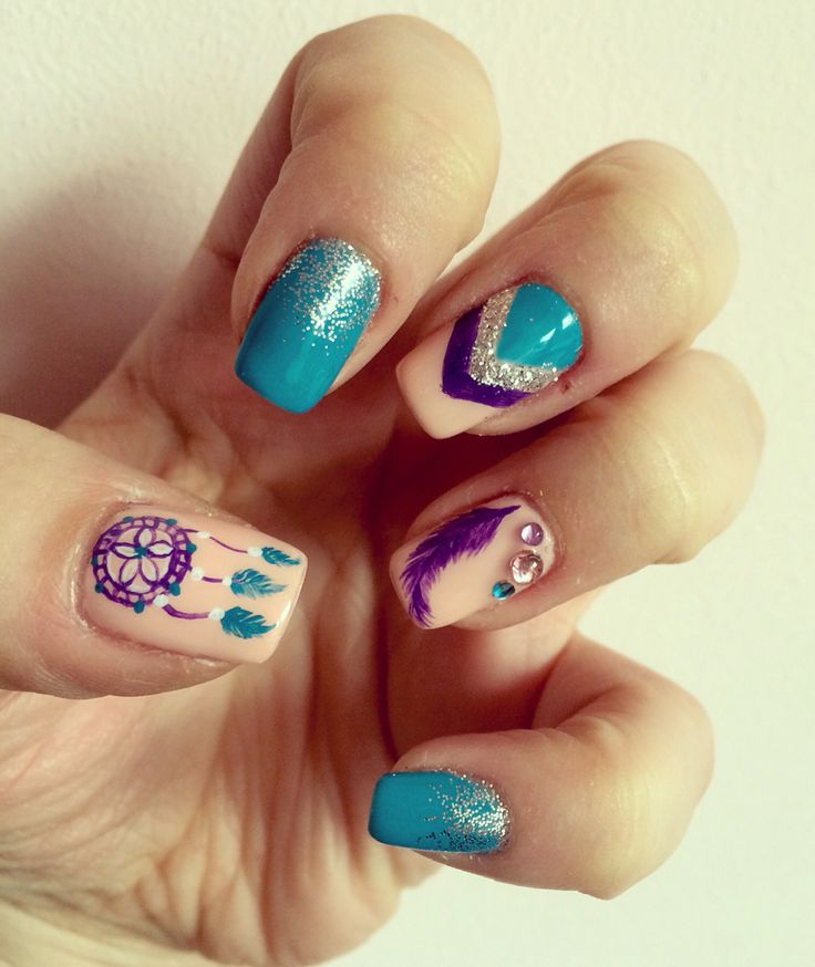 Nail art - dreamcatcher