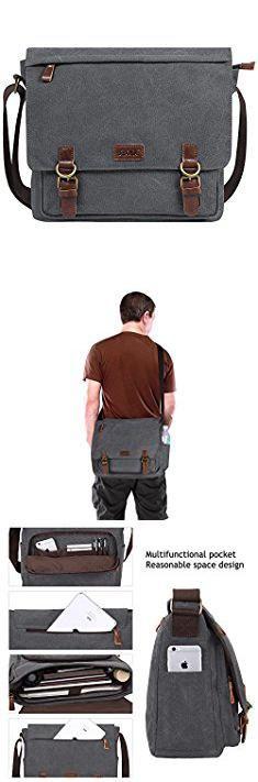S Zone Messenger Bag. S-ZONE Vintage Canvas Laptop Messenger Bag School Shoulder Bag for 13.3-15inch Laptop Business Briefcase Gray.  #s #zone #messenger #bag #szone #zonemessenger #messengerbag