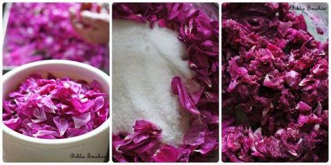 Ucierana róża...bez cukru;)