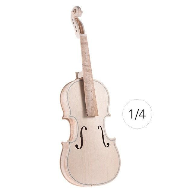 1/8 1/4 1/2 3/4 4/4 Size Natural Solid Wood DIY Violin Kit