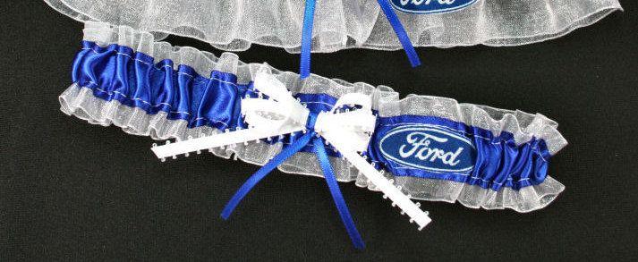 Ford Motor Company Handmade Toss Wedding Garter