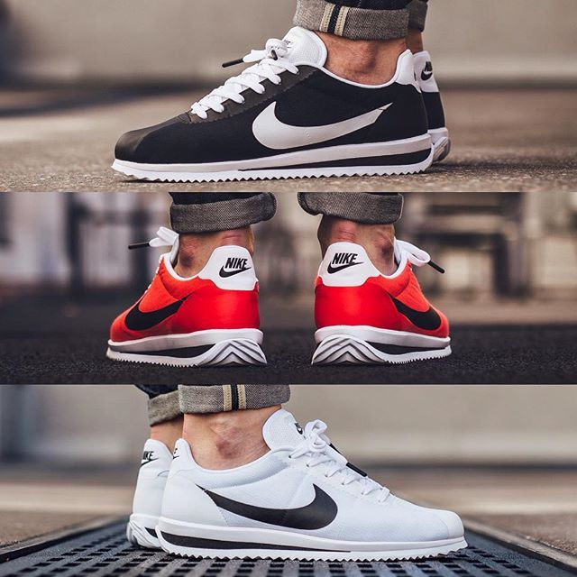 Nike Cortez White Black University Red