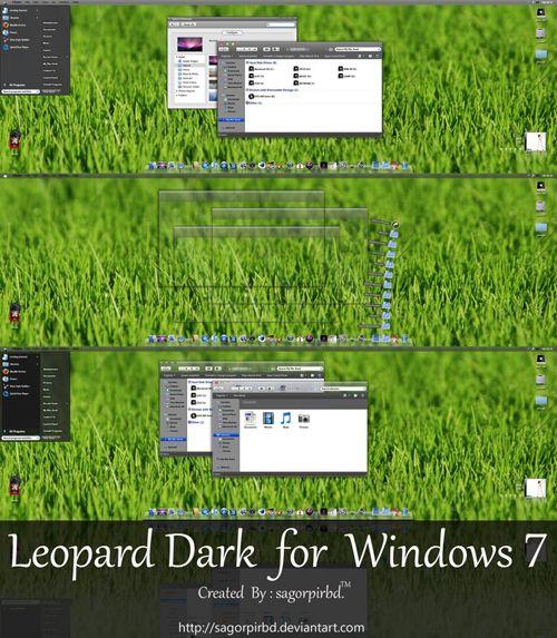 Popular Leopard Dark Glass Basic for windows free Windows Visual Styles Windowblinds