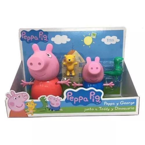 Peppa Pig Peppa George Con Teddy Y Dino - $ 2.299,99