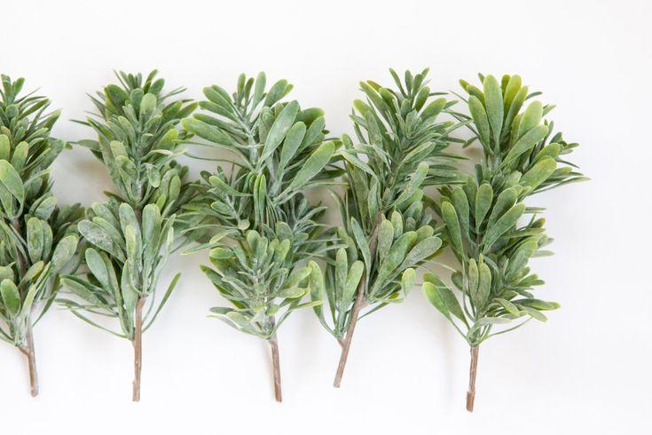 Faux succulents- Set of 7 Artificial Succulent Bush Stems in Green - Fake succulents - artificial succulents - Item 0251 by SimplySerraFloral on Etsy