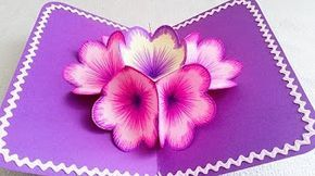 Making A 3d Flower Pop UP Card - Easy And Simple Steps | - YouTube