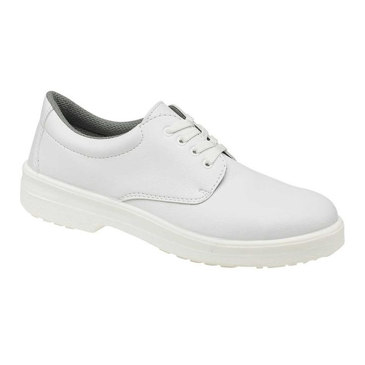 Unisex Machine Washable White Microfiber Catering Safety Shoes