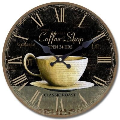 78 images about coffee themed kitchen decor on pinterest dishwasher cover coffee and coffee - Coffee themed wall clocks ...