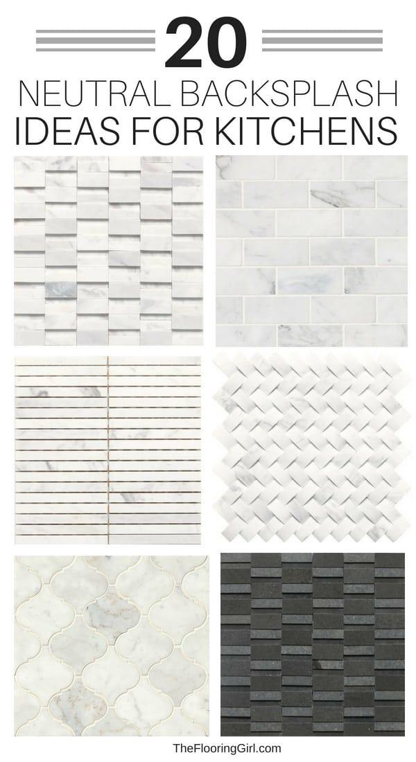 Neutral Backsplash Tiles For Kitchens