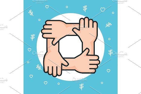 Hands Symbol Peace Unity Community In 2020 Hand Symbols Unity Symbols