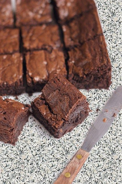 "Nigel Slater's Chocolate Brownies ... ""As dense and fudgy as Glastonbury mud"" (Nigel Slater)"