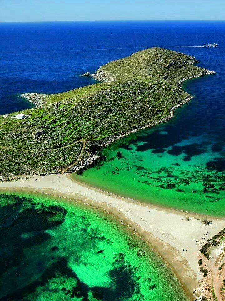 Kolona beach at Kythnos Island ,Grecce
