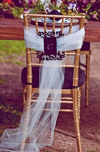 Chair for bride and groom - Wedding inspirations