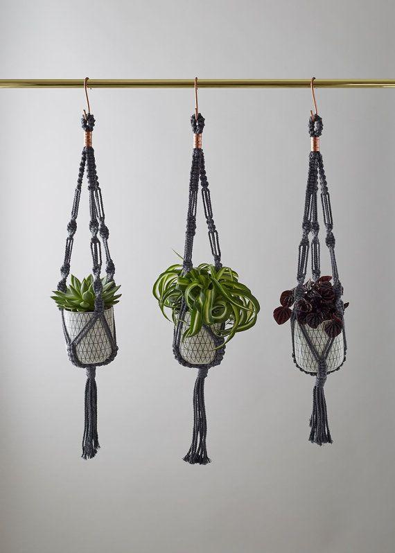 Handmade Macrame Plant Hanger by geofleur on Etsy