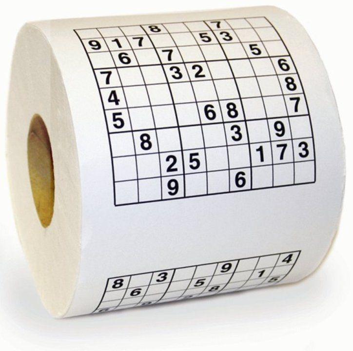 Sudoku Toalettpapir - Løs sudokuoppgaver på do!