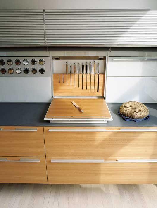 Inspiration. Oooh, integriertes Messer / Schneidebrett. Liebe, dass es nicht verwendet wird