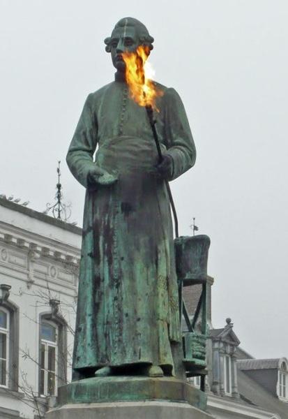 Jean-Pierre Minckelers, inventor of illuminating gas, Markt, Maastricht, Netherlands