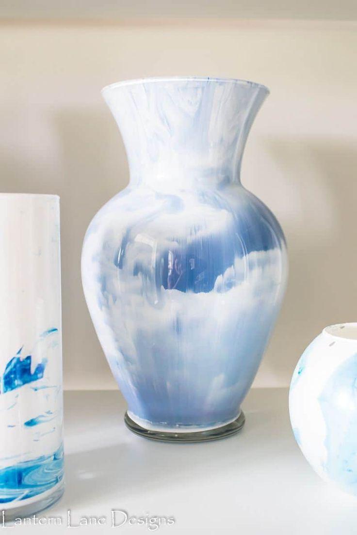 Diy Painted Vases To Look Marbled Diy Painted Vases Diy Vase