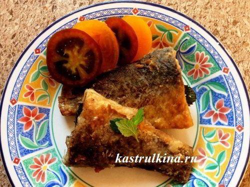 Жареная рыба с мятой, оригинальный рецепт