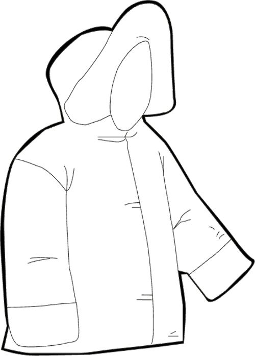 Jacket Winter Clothes Coloring Page