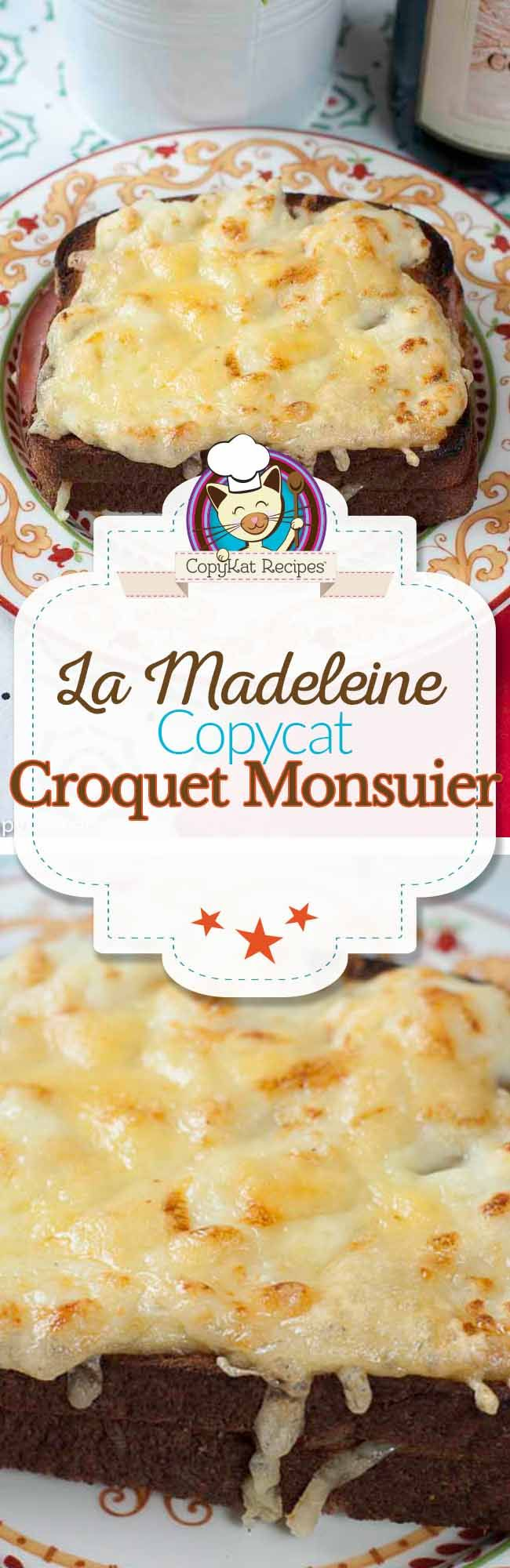 Enjoy this classic French menu item from La Madeleine, the Croquet Monsieur is not to be missed.