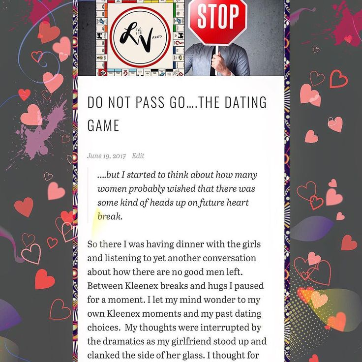 New Blog Alert ��!!!! So there I was having dinner with the girls and listening to yet another conversation about how there are no good men left. Between Kleenex breaks and hugs I paused for a moment. I let my mind wonder to my own Kleenex moments and my past dating choices.  My thoughts were interrupted by the dramatics as my girlfriend stood up and clanked the side of her glass. I thought for sure that this last heart break had driven her over the edge but then she said something…