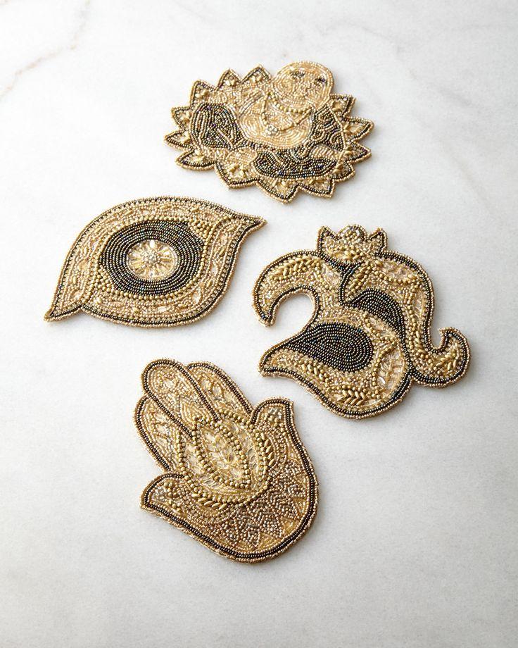 Kim Seybert Charmed Coasters, 4-Piece Set