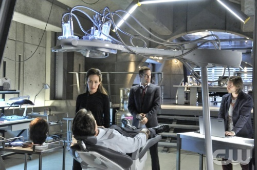 """Nikita -- """"The Swords Edge"""" - Pictured (L-R): Maggie Q as Nikita, Shane West as Michael, and Aaron Stanford as Birkoff -- Credit: Ben Mark Holzberg/The CW -- © 2012 The CW Network. All Rights Reserved."""