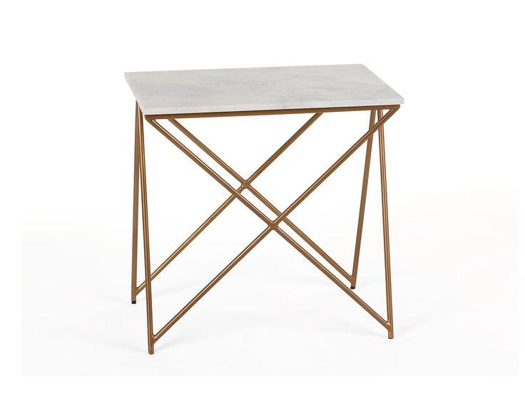 NESTA - Marble end table - White