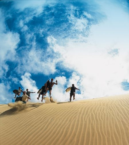 Te Paki Sand Dunes, New Zealand - North Island, try dune boarding it's awesome!