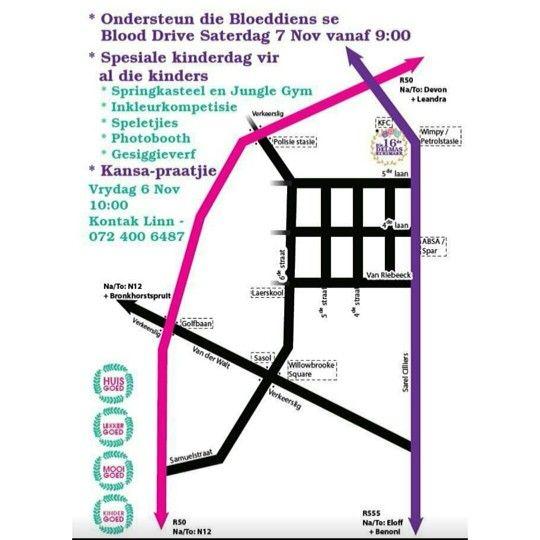 Roadmap to Delmas Christmasmarket 2015