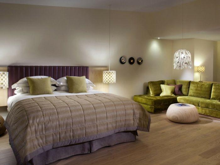 Die besten 25+ grüne Ecksofas Ideen auf Pinterest graues Ecksofa - gro es schlafzimmer einrichten