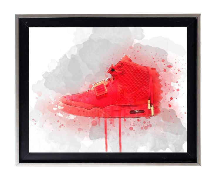 Nike Yeezy Red October Modern watercolor Splatter Oil Painting gallery matte print poster by AmorImprimo on Etsy https://www.etsy.com/listing/489833557/nike-yeezy-red-october-modern-watercolor