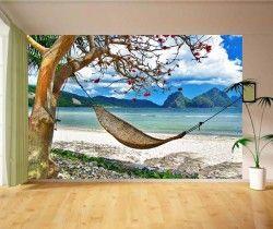 Hamak Plaj Manzaralı Duvar Kağıdı