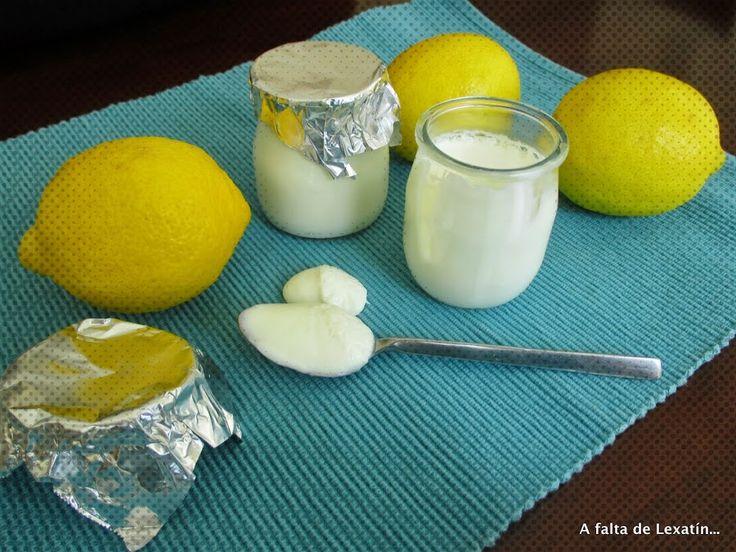 Yogur de limón con o sin yogurtera