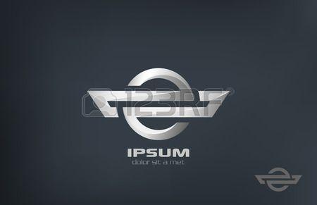Unternehmenssymbol Metall Vektor Logo Design Vorlage Metallic abstrakte Luxus Konzept Business kreat Lizenzfreie Bilder