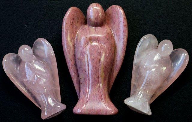 Three beautiful gemstone  holistic angels PPP1188  HOLISTIC ANGELS , GEMSTONE ANGELS ,