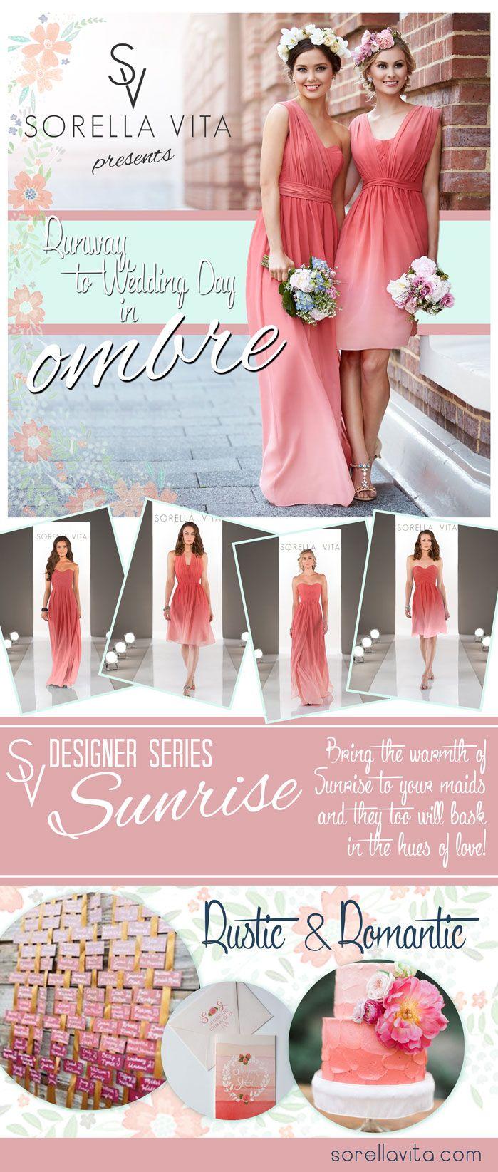 12 best ambre wedding images on Pinterest | Ombre bridesmaid dresses ...