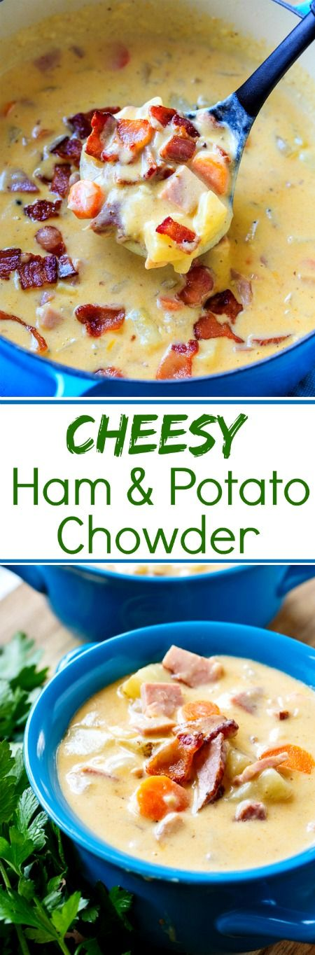 Cheesy Ham and Potato Chowder. Great for using leftover Easter ham.