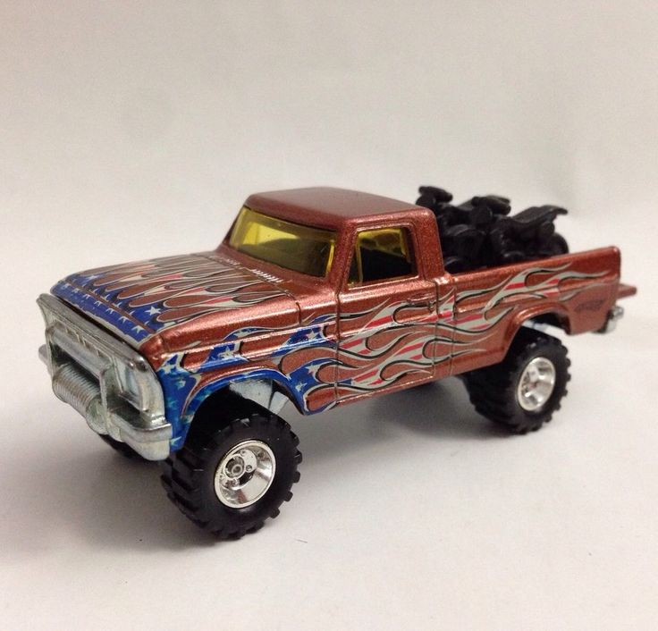 "VHTF Hot Wheels ""4th of July"" TEXAS DRIVE 'EM Ford Truck custom with REAL RIDERS #HotWheels #Ford"