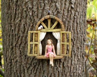 Fairy Garden Accessories Window SET OF 2 by TheLittleHedgerow