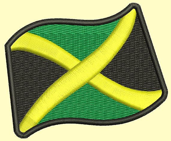 Jamaica flag Machine Embroidery Design by embroiderypapatedy